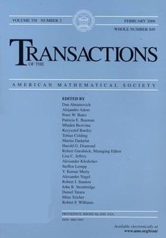 Transactions of the American Mathematical Society - Transactions of the American Mathematical Society, February 2006 issue.