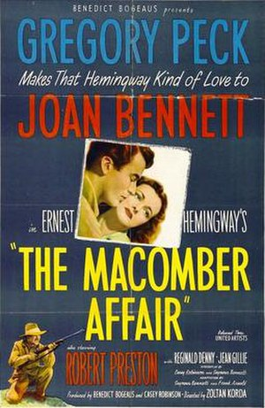 The Macomber Affair - Theatrical release poster