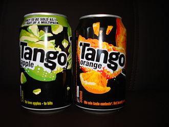 Tango (drink) - Tango - apple and orange flavours