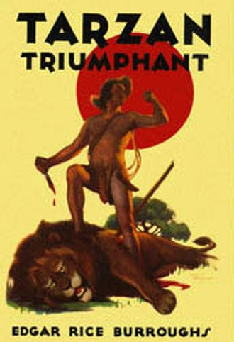 Tarzan Triumphant - Dust-jacket illustration of Tarzan Triumphant