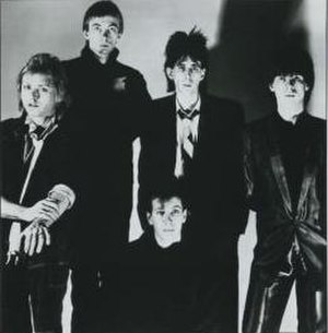 The Cars - The Cars, 1984.  L–R: Benjamin Orr, Greg Hawkes, David Robinson, Ric Ocasek, and Elliot Easton.