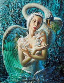 The Dying Swan by Vladimir Tretchikoff 1949.jpg