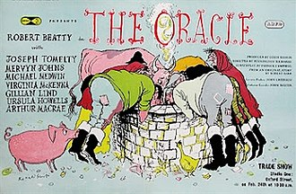 The Oracle (film) - Original trade ad by Ronald Searle