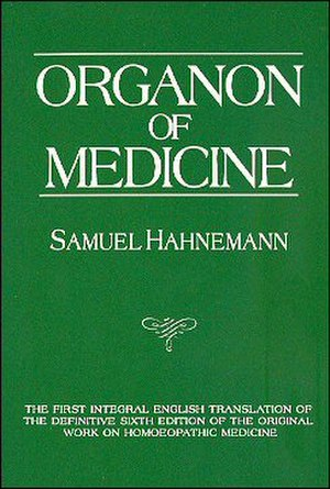The Organon of the Healing Art - Sixth edition cover
