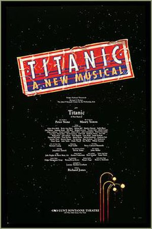 Titanic (musical) - Poster for the 1997 Broadway production