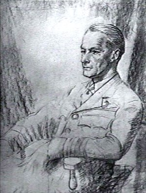 Peter Drummond (RAF officer) - Unfinished sketch of Drummond by Cuthbert Orde, August 1945