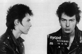 Sid Vicious - Vicious' mugshot from 9 December 1978