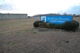 Seneca, South Carolina - Westpoint Stevens Plant, January 2008. Demolition of the mill began in the spring of 2008.