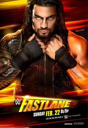 Fastlane (2015) - Image: WWE Fastlane 2015 Official Poster