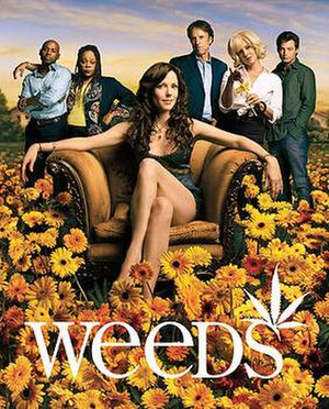 Weeds (TV series) - The cast of Weeds during Season 2, Left to Right: Romany Malco, Tonye Patano, Mary-Louise Parker, Kevin Nealon, Elizabeth Perkins, and Justin Kirk. This image was also used for the Season 2 DVD box set.