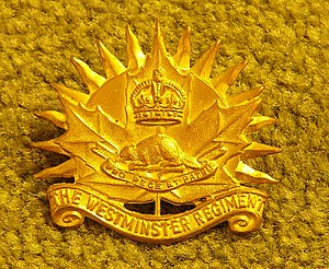 Royal Westminster Regiment - Image: Westminster Regiment Hat Badge