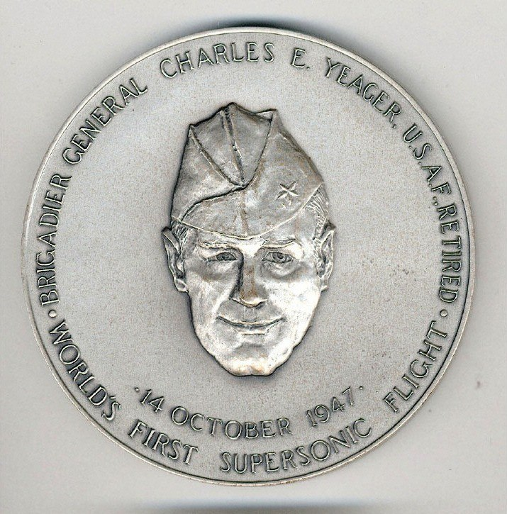 Yeager congressional silver medal