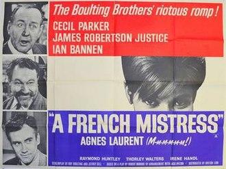 A French Mistress - Original British quad poster