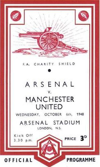 1948 FA Charity Shield - The match programme cover