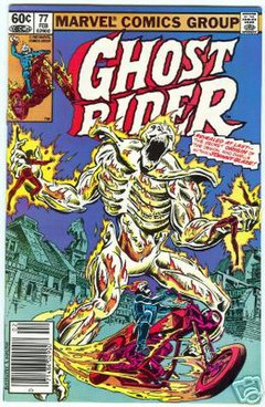 Cover of Marvel Comics' Ghost Rider #77