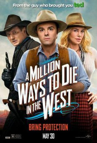 A Million Ways to Die in the West - Theatrical release poster