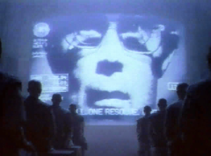1984 (advertisement) - The Big Brother-like figure (David Graham) speaking to his audience