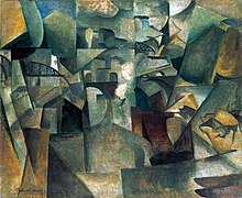 Albert Gleizes, 1912, Les ponts de Paris (Passy), The Bridges of Paris, oil on canvas, 60.5 x 73.2 cm, Museum Moderner Kunst (mumok), Vienna..jpg