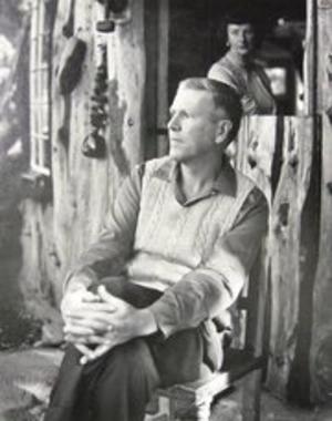 Alexander Weygers - Alexander sits in his Carmel Valley Studio