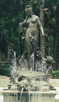 Fountain of Aphrodite in Mexico City.