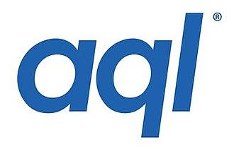 Aql (company) - Image: Aql (company) logo, blue on white