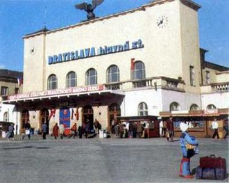 Bratislava hlavná stanica - The station's main building before the addition of the foyer