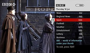 BBC Red Button - BBC Red Button homepage.