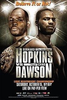 Bernard Hopkins vs. Chad Dawson Boxing competition