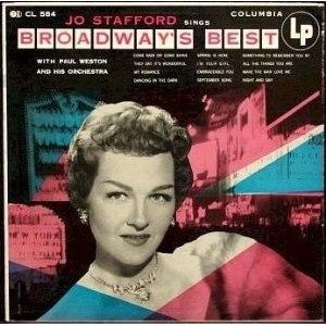 Broadway's Best (album) - Image: Broadway's Best Stafford album 1953