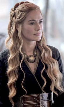 Cersei Lannister in Black Dress in Season 5.jpg