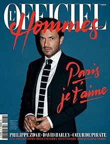 Cover of L'Officiel Hommes, winter 2011, by André Saraiva (Creative Director) and the new letter head logo.jpg