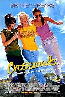 <i>Crossroads</i> (2002 film) 2002 American film with Britney Spears directed by Tamra Davis