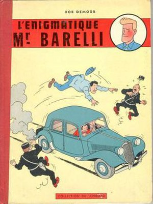 Bob de Moor - Cover of L'enigmatique monsieur Barelli (1956) one of de Moor's most notable solo projects