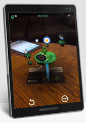 An image from an AR mobile game
