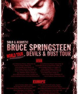 Devils & Dust Tour