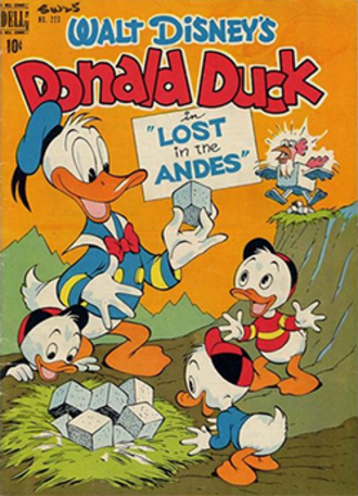 Lost in the Andes! - Lost in the Andes! comic book cover