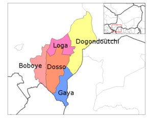 Loga Department location in the region