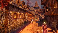 The Journeyman's Inn during autumn in the magical fantasy-based world Arcadia