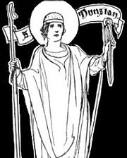 Dunstan in The Little Lives of the Saints, illustrated by Charles Robinson in 1904