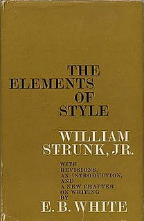 <i>The Elements of Style</i> American English writing style guide