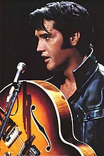 Elvis Presley in his '68 Comeback Special, airing on NBC, December 3, 1968.