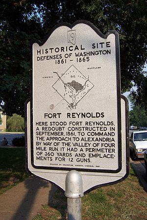 Fort Reynolds (Virginia) - Fort Reynolds historical marker