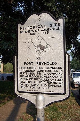 Fort Reynolds (Virginia) - Fort Reynolds historical marker