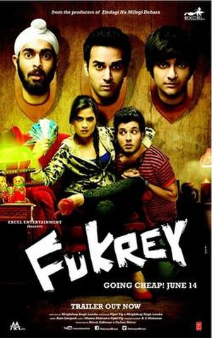 Fukrey - Theatrical release poster