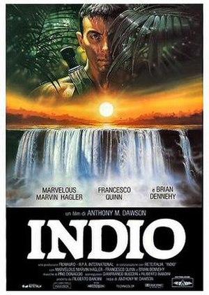 Indio (1989 film) - Italian theatrical release poster by Renato Casaro