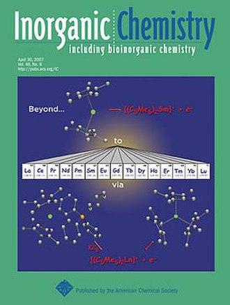Inorganic Chemistry (journal) - Image: Inorganic chemistry cover
