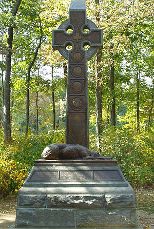 Irish Brigade (Union Army) - Brigade Monument at the Gettysburg battleground