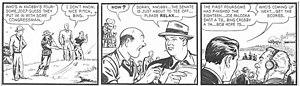 Joe Palooka - Joe Palooka plays golf with Bob Hope and Bing Crosby in a 1949 Joe Palooka strip by Ham Fisher and Moe Leff.