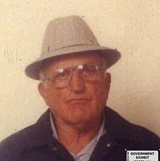 Joey Aiuppa - Joey Aiuppa mug shot, c. 1985