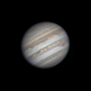 Astronomical seeing - This amateur lucky imaging stack using the best of 1800 frames of Jupiter captured using a relatively small telescope approaches the theoretical maximum resolution for the telescope, rather than being limited by seeing.